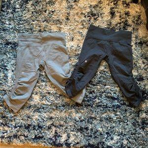 Lululemon leggings capris  - bundle of two